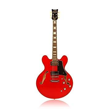 Custom77 Needles & pines Trans guitarra eléctrica, color rojo ...