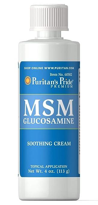 bd03d8c05 Puritan s Pride MSM Glucosamine Cream-4 oz Cream