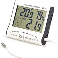 AUSELECT Hygrometer Indoor Thermometer Digital Humidity Monitor Temperature Humidity Gauge Meter for Baby Room, Kitchen…