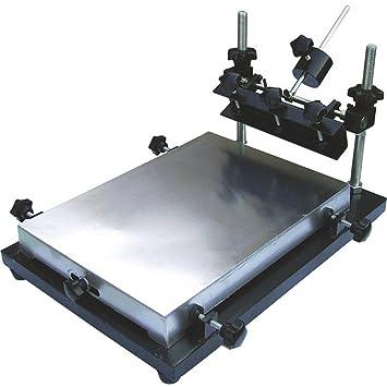 CGOLDENWALL - Mesa de impresión manual para soldador SMT con impresión de pasta de aluminio, máquina de impresión para serigrafía Large: 55 * 42cm: ...