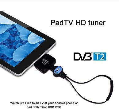 Decodificador Digital Terrestre receptor tv dvb-t y DVB-T2 Micro USB para Smartphone Android phone/Pad cw185: Amazon.es: Electrónica