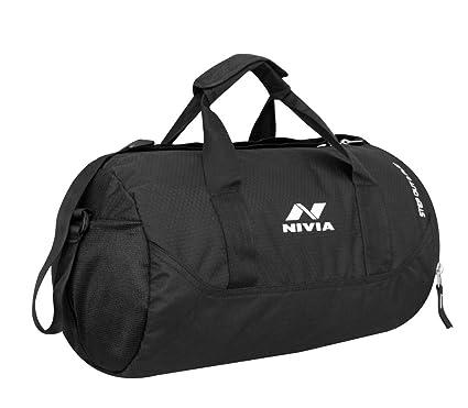 Buy NIVIA Polyester Beast Water Resistant Gym Duffle Bag (Black ... 61f0348fb56b9