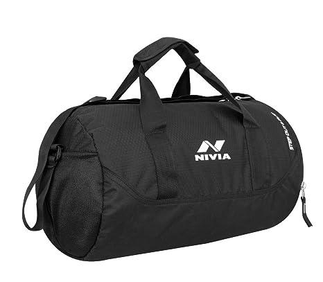 8f4a94b64b Buy NIVIA Polyester Beast Water Resistant Gym Duffle Bag (Black ...
