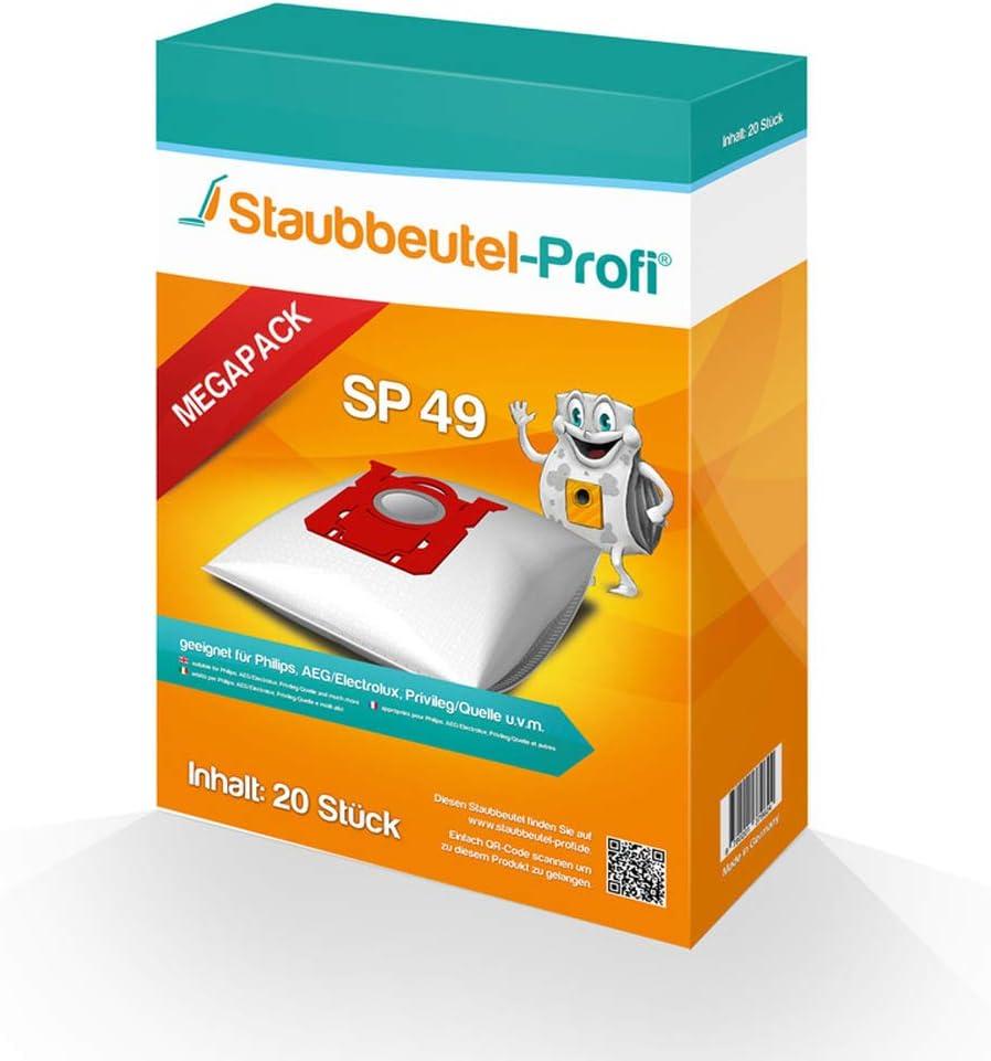 20 Staubsaugerbeutel SP49 geeignet für AEG VX7-2-IW-P