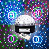 BLUETOOTH LED Music Speaker Disco Ball Sound Activated with MP3 SD/USB Slot + Bluetooth, Built in Speakers - Connect to Iphone or any Bluetooth device - From Playlearn (UK)