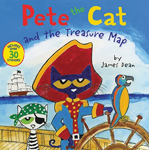 Pete the Cat and the Treasure Map por James Dean
