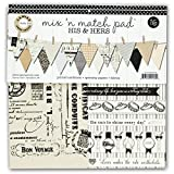 Canvas Corp Canvas Mix and Match Pad, 12'', His and Hers