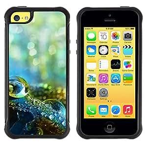 LASTONE PHONE CASE / Suave Silicona Caso Carcasa de Caucho Funda para Apple Iphone 5C / Water Drop Macro