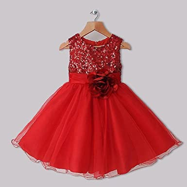 Stunning Red Bridesmaid, Flower Girl, Party, Wedding, Princess, Christmas, Prom