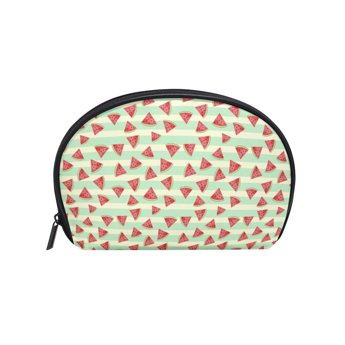 dd4b30880a6f Amazon.com : Funny Watermelon Bright Stripe Small Cosmetic Bag For ...