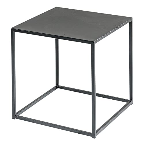 Minimal Black Hand Welded Steel Cube   Side Table, End Table, Nightstand,