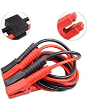 AUFUN Starthilfekabel 2x4m Starterkabel Set Überbrückungskabel KFZ LKW PKW Batterie für 12 Volt/24 Volt mit Überspannungsschutz