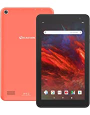 Android 9.0 Tablet 7 Zoll WiFi PC - HAOQIN H7 RK3326 16GB Speicher IPS Display Dual Kamera WiFi Bluetooth (Orange)