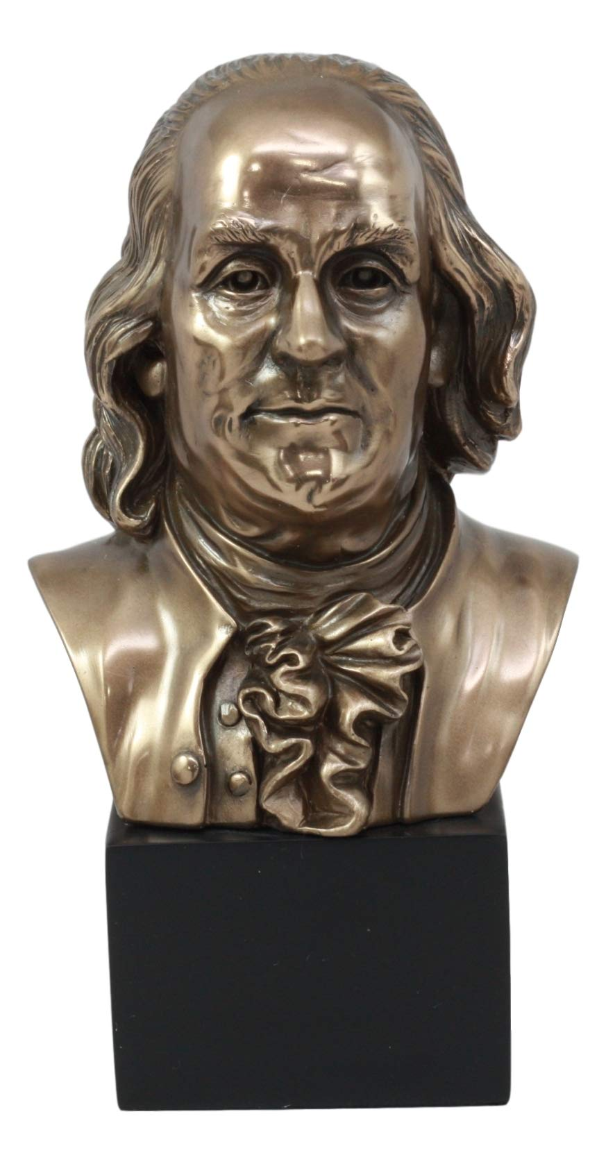 Ebros American Founding Father Benjamin Franklin Bust Statue 8.75'' Tall In Bronze Patina Finish Resin Figurine As United States Patriotic Historical Memorabilia Home Decor Realistic Lifelike Sculpture by Ebros Gift