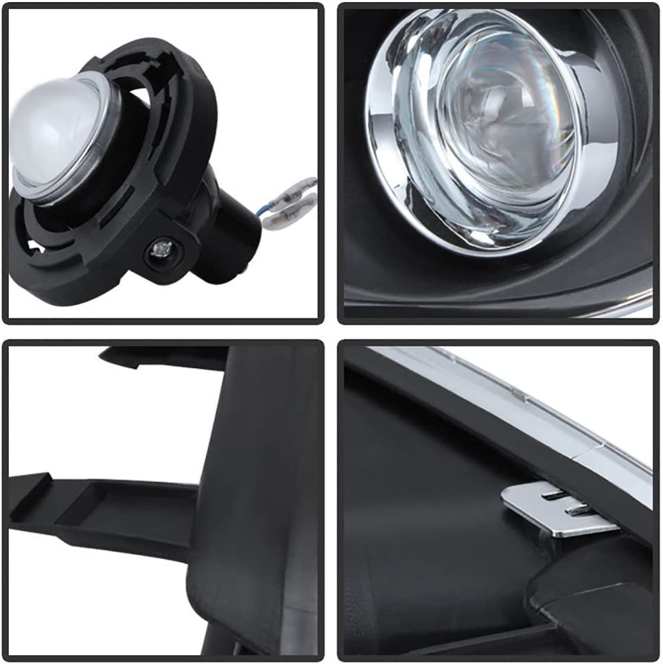 Bezel /& Universal Wiring Included VIPMOTOZ Chrome Housing OE-Style Front Fog Light Driving Lamp Assembly For 2011-2014 Chrysler 300 Driver /& Passenger Side