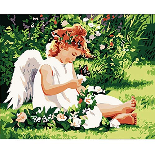 Classic Wooden Puzzle 1000 Pieces Angel Little Girl and Butterfly Best Gift for Children Or Friends, Home Art Deco Painting ()