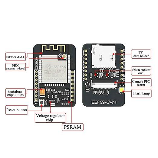 ESP32-CAM Camera WiFi + Bluetooth Module 4M PSRAM Dual-core 32-bit CPU  Development Board with OV2640 2MP Camera Module and 8dBi Wireless Network  WiFi
