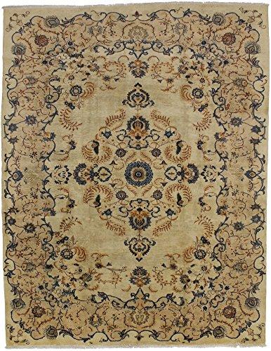Elegant S Antique Hand Knotted Kashan Persian Style Rug Oriental Area Carpet 10X13 (Kashan Royal Rug)