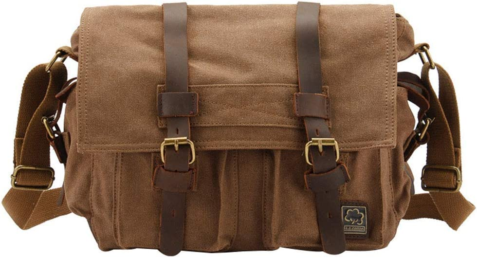 Mens Shoulder Messenger Canvas Bag electronic SLR Photography Digital Camera Bag Casual Waterproof and wear-Resistant Business Backpack