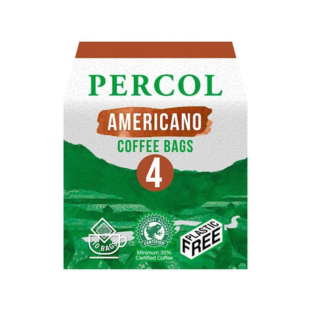 Percol All Day Americano Ground Coffee Bags 10 Bags 6 Boxes