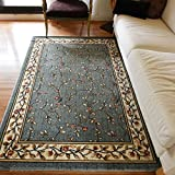Interior carpet Rectangular carpet Europe and the United States style living room bedroom coffee table carpet blanket (Color : A, Size : 85120cm)