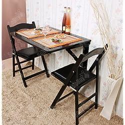 Haotian Wall-Mounted Drop-Leaf Table, Folding Kitchen & Dining Table Desk, Solid Wood Children Table,Home Office Table Desk Workstation Computer Desk with Storage Shelves, Trestle Desk (FWT05-SCH)