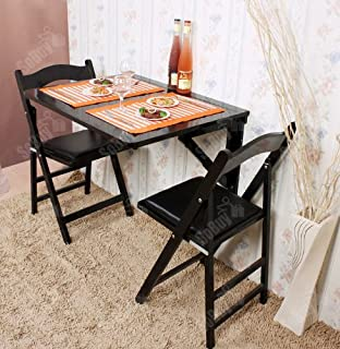 Amazon.com: Haotian Wall-mounted Drop-leaf Table, Folding Dining ...