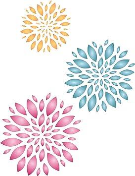 Diseño de flores plantilla para estarcir - reutilizable de pared plantillas para pintar - mejor calidad