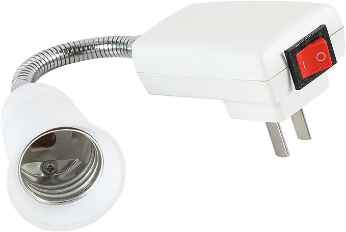 UK Plug To E27 LED Light Lamp Bulbs Adapter Converter with ON//OFF Switch BZU
