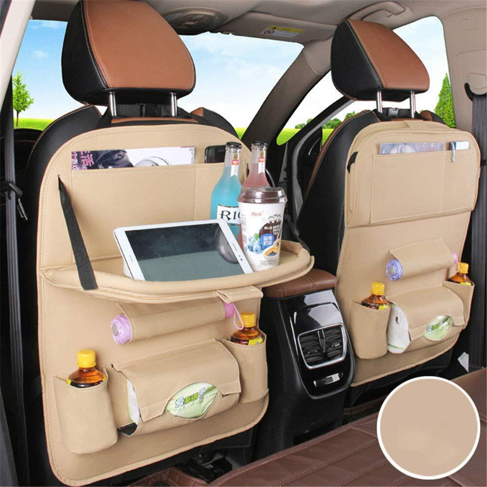 LY-LD Kids Travel Tavolo Pieghevole in Pelle Custodia per seggiolino Auto-Play Vassoio Multifunzione Mini Tavolo da Pranzo,2pcs,B,50X65CM