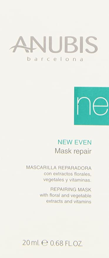 Anubis - New Even - Mascarilla reparadora con extractos floreles vegetales y vitaminas - 20 ml: Amazon.es: Belleza