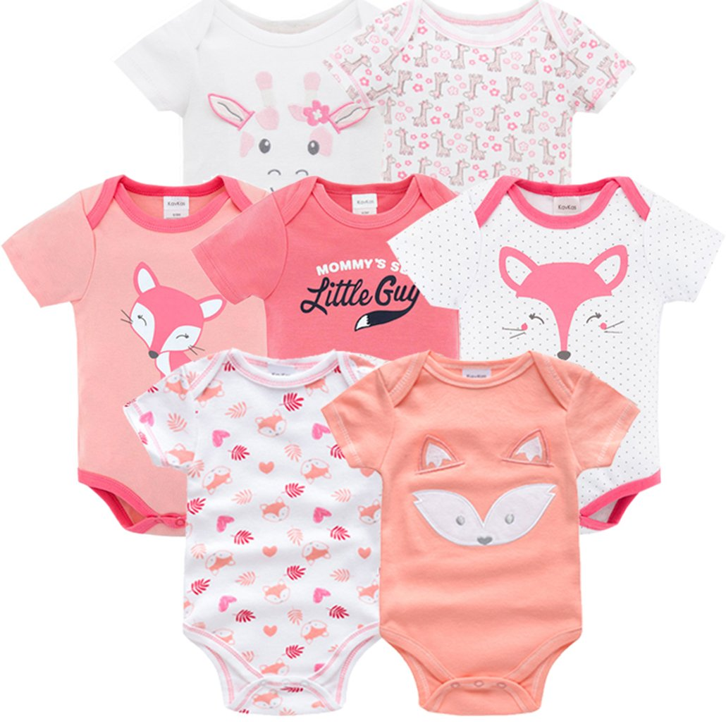 Amazon.com: 2018 7PCS/lot Baby Girl Roupas de Bebe recien nacido ...