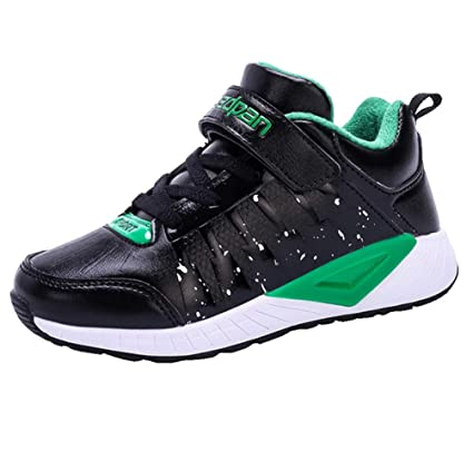 43ef48a6 LGXH Breathable Boys Girls Mid Basketball Shoes Non-Slip Kids Casual School Outdoor  Athletic Sneakers