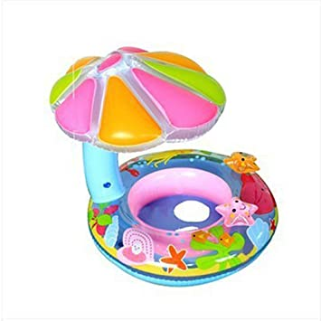 NUOLUX Baby Float Seat Boat with Canopy Baby Swimming Ring ...