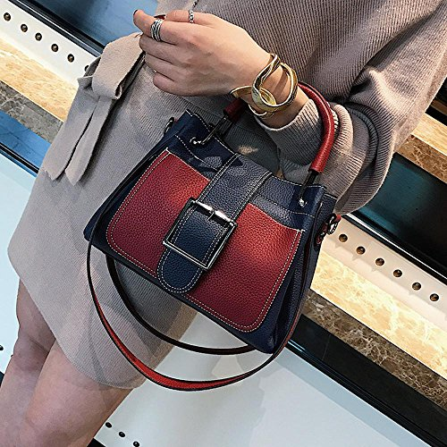 Aoligei Collision couleur seau sac fashion unique épaule oblique cross féminin sac centaines boucle à main A