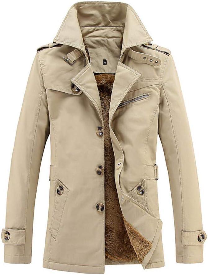 WSPLYSPJY Mens Thicken Warm Outdoor Coat Lined Windproof Waterproof Overcoat Army Green XS