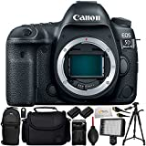 Canon EOS 5D Mark IV DSLR Camera (Body Only) - International Version (No Warranty) Includes 2 Extended Life Replacement Batteries + Professional 160 LED Light + Full-Size 72 Tripod & More!
