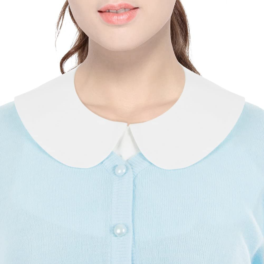 1930s Style Blouses, Shirts, Tops | Vintage Blouses Anzermix Peter Pan Detachable Shirt Dickey Blouse False Collar 2 Colors $9.99 AT vintagedancer.com