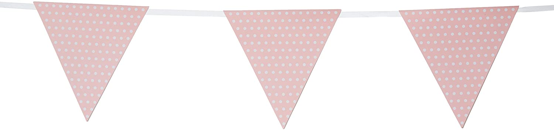 Creative Converting 293313/Papier Flagge Banner Party Decor mit Punkten Pink