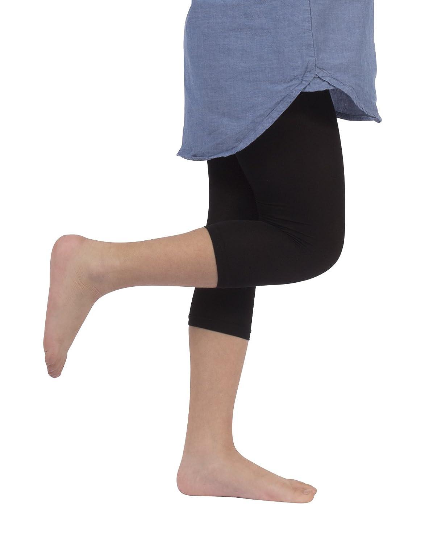 Leggings Corti Bambina In Microfibra Bianco Capri Bimba Nero 40 Den CALZITALY 2 Paia Calzetteria Italiana |