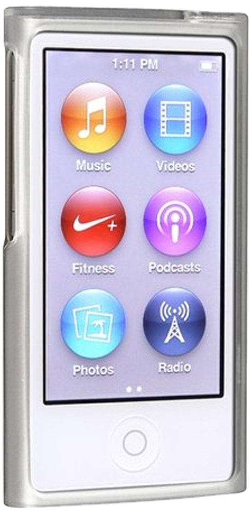 eForCity TPU Rubber Skin Case for iPod Nano 7G (Frost Clear White) DAPPNAN7SC12