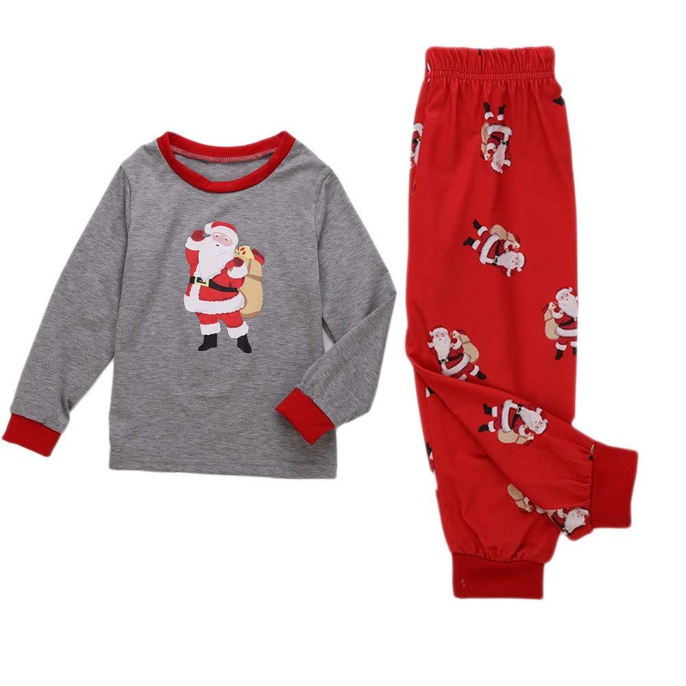 e429392da2152 Miyanuby Ensembles de Pyjama Noel Famille Père Mère Garçon Fille du ...