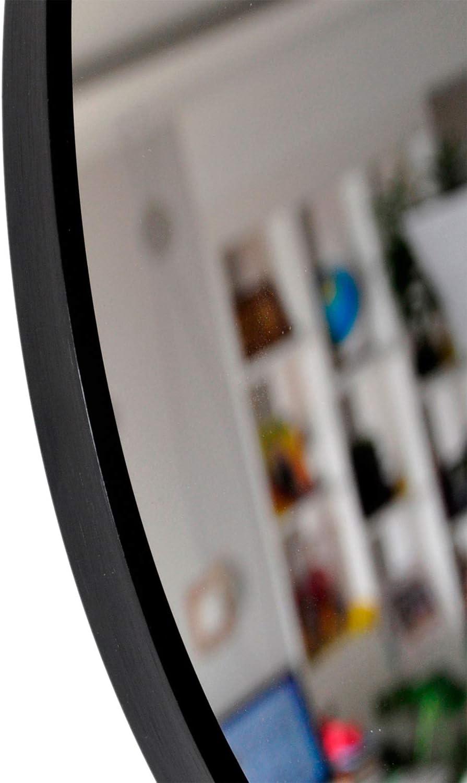 Muzilife Specchio Rotondo con Cornice in Metallo 40 cm per Bagno o Soggiorno Argento