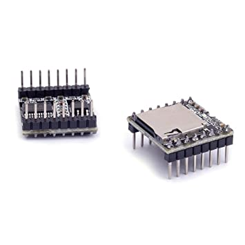Cylewet 2Pcs DFPlayer Mini MP3 Player Module Support TF Card and U Disk for  Arduino (Pack of 2) CYT1054