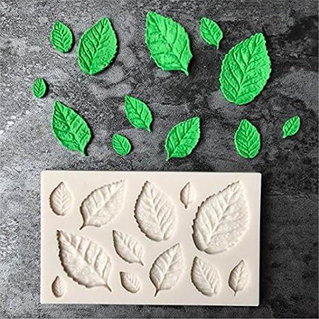 Flower205 Molde de silicona con forma de hoja para fondant y tartas de chocolate para decoración de tartas, fondant, utensilios de cocina, azúcar, ...