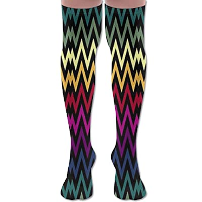 ruishandianqi Calcetines Altos New Rainbow Wave Fashion Stylish Comfortable Knee High Socks Long Socks for Women and Men: Deportes y aire libre