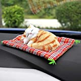 Autumn Water Car Ornaments Cute Simulation Sleeping Cats Decoration Automobiles Lovely Plush Kittens Doll Toy Children Gifts Accessories Random style