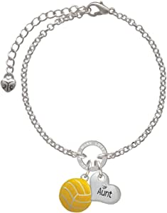 Silvertone Large Water Polo Ball Daughter You Are Loved Circle Bracelet 8