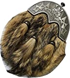 Mens Scottish Kilt Sporran Formal Fox Fur/Kilt Sporran Chain Belt Antique Cantle FA-101