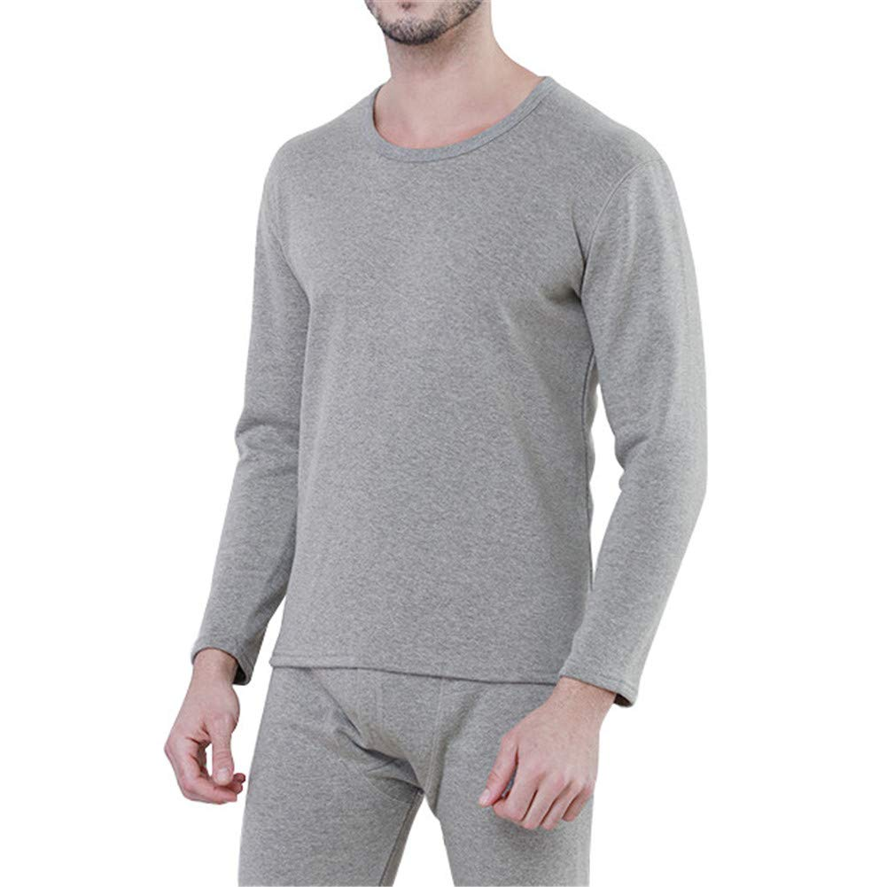GODGETS Uomo Set Termico Invernale Alta Densità Completo Termico T-Shirt Maniche Lunghe & Pantaloni Invernali